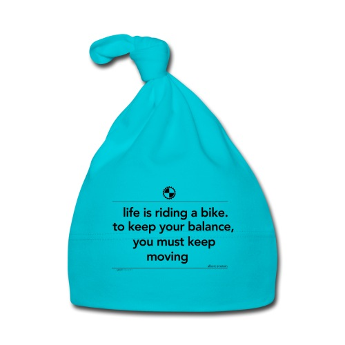 Life is riding a bike Albert Einstein white - Muts voor baby's
