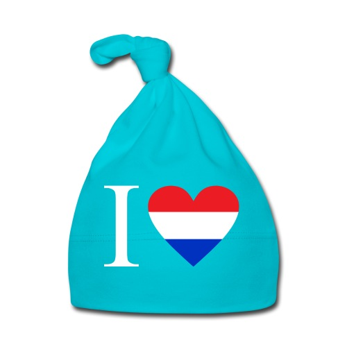 Ik hou van Nederland | Hart met rood wit blauw - Muts voor baby's