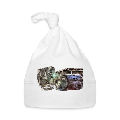 gas mask 2 white - Baby Mütze