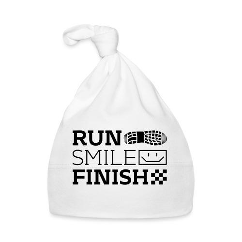 Run Smile Finish Marathon-Motto - Baby Mütze