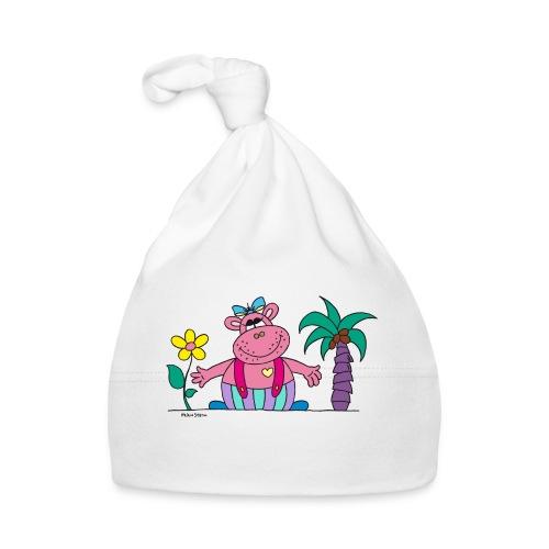 lustiges Nilpferd Sonnenblume Palme Hippo - Baby Cap