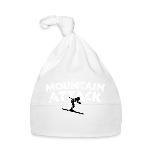 MOUNTAIN ATTACK Wintersport Ski Design (B&W) - Baby Mütze