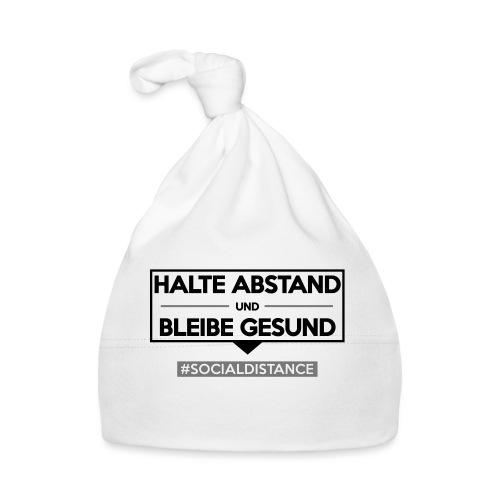 Halte ABSTAND und bleibe GESUND. www.sdShirt.de - Baby Mütze