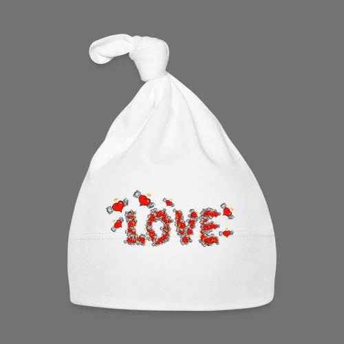 Fliegende Herzen LOVE - Baby Mütze