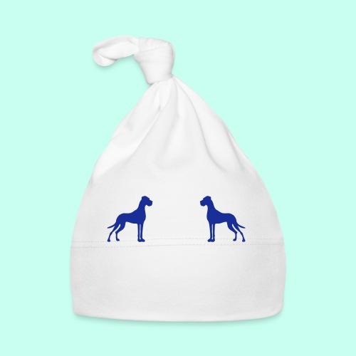 Zwei Deutsche Doggen gegenüber - Baby Mütze