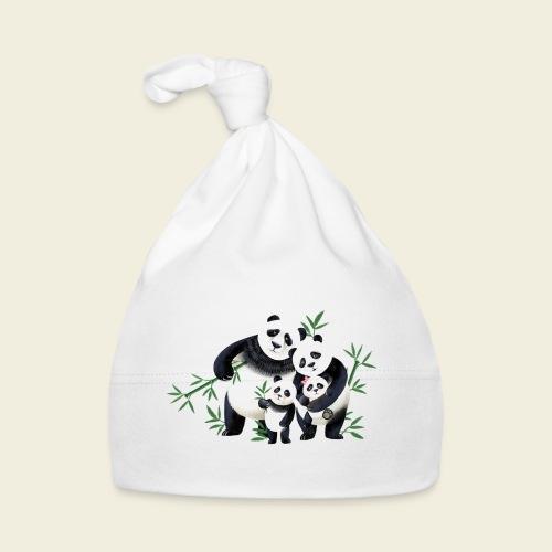 Pandafamilie zwei Kinder - Baby Mütze