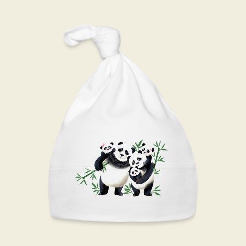 Pandafamilie drei Kinder - Baby Mütze