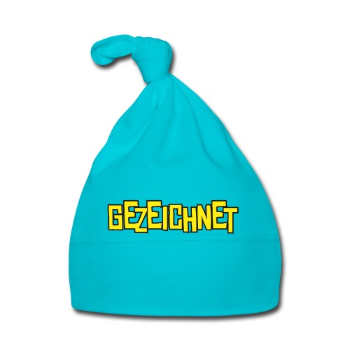 Gezeichnet Logo Gelb - Baby Mütze