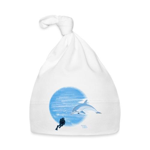 Dolphin and diver - Maillots - Bonnet Bébé