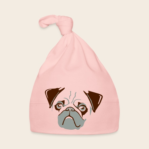 otiz mops kopf 2farbig - Baby Mütze
