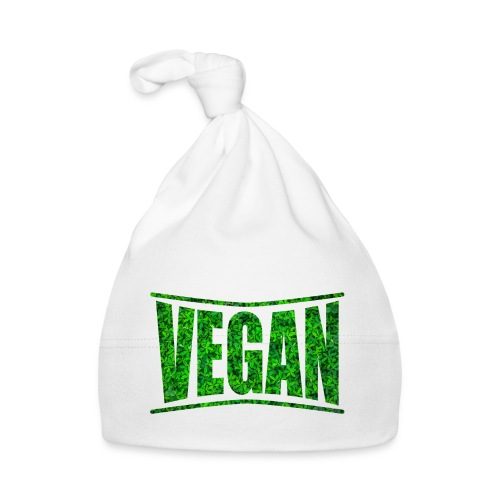 t-shirt design vegan bio eco green - Cappellino neonato