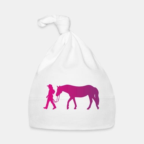 Mädchen führt Pferd, Horsemanship - Baby Mütze