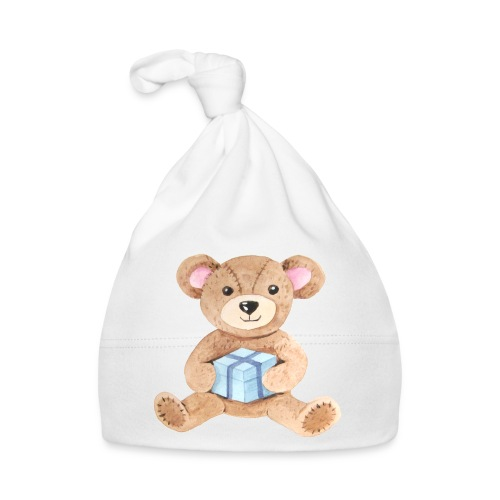 Baby Bib Teddy bear with gift - Baby Cap