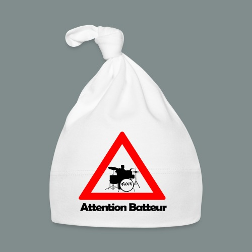 Attention batteur - cadeau batterie humour - Bonnet Bébé