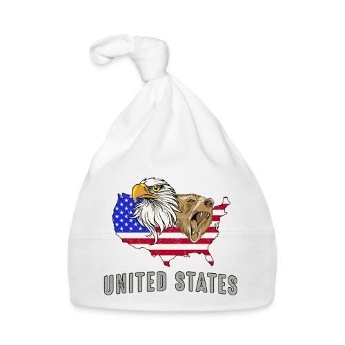 United States America Amerika USA Grizzlybär Adler - Baby Cap