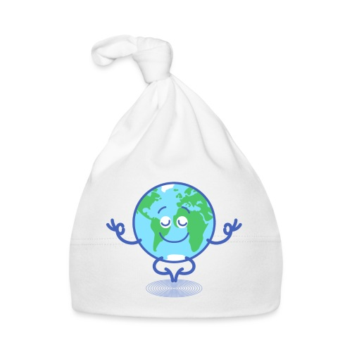 Planet Earth meditating and smiling - Baby Cap