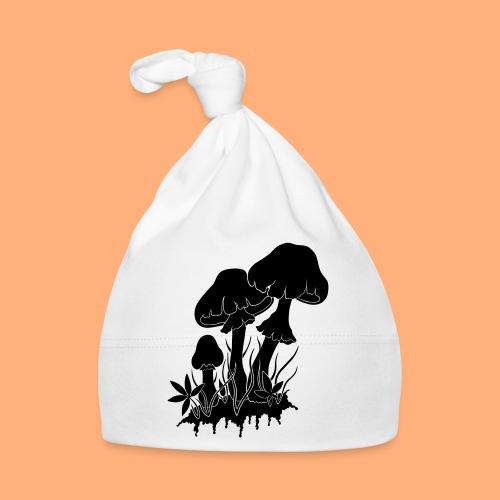 champignons noir et blanc - Bonnet Bébé