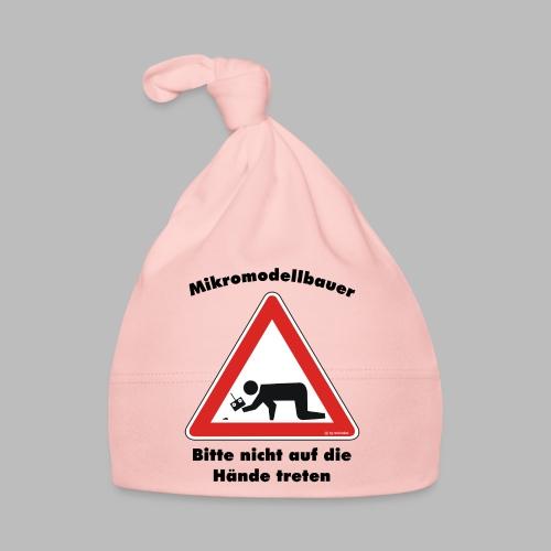 Mikromodell Warnschild Hände - Baby Mütze