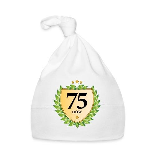 75. Geburtstag Wappen Lorbeerkranz goldene Sterne - Baby Cap
