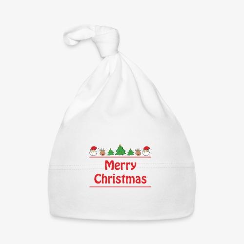 Merry Christmas - Pères Noël, Sapins et rennes - Bonnet Bébé