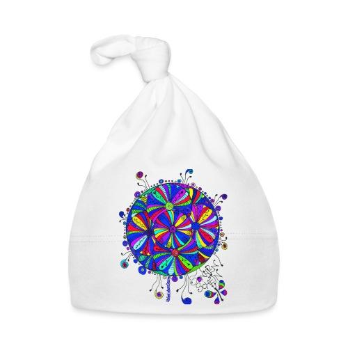 Blauer BlütenTraum - Baby Mütze