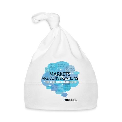 Markets are conversations The Cluetrain Manifesto - Cappellino neonato