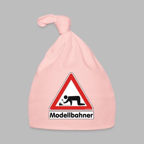 Warnschild Modellbahner E Lok - Baby Mütze