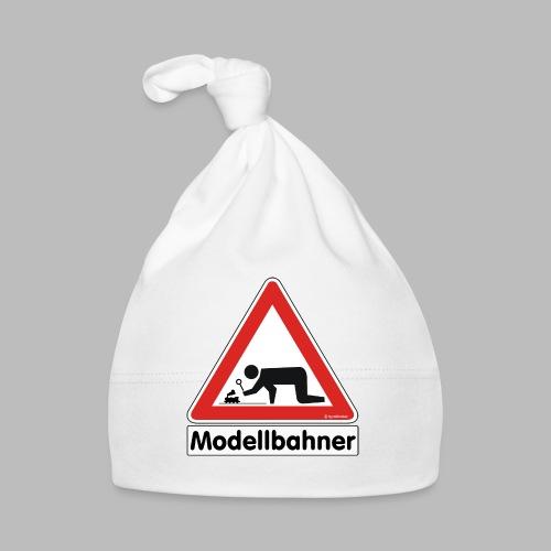 Warnschild Modellbahner Dampflok - Baby Mütze