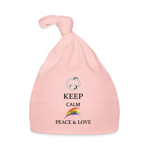 keep calm and Peace & Lov - Cappellino neonato