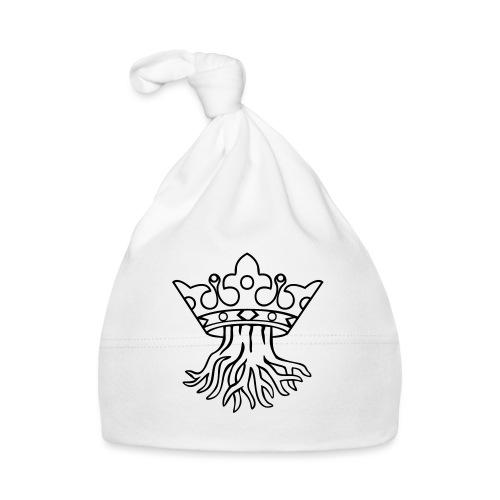 Kronstadt-Wappen - Wurzel mit Krone s/w - Baby Mütze