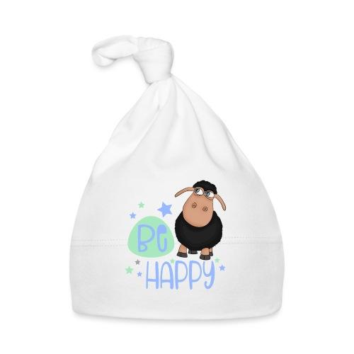 Schwarzes Schaf - Be happy Schaf - Glücksbringer - Baby Mütze