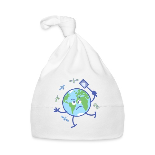 Earth chasing satellites with fly swatter - Baby Cap