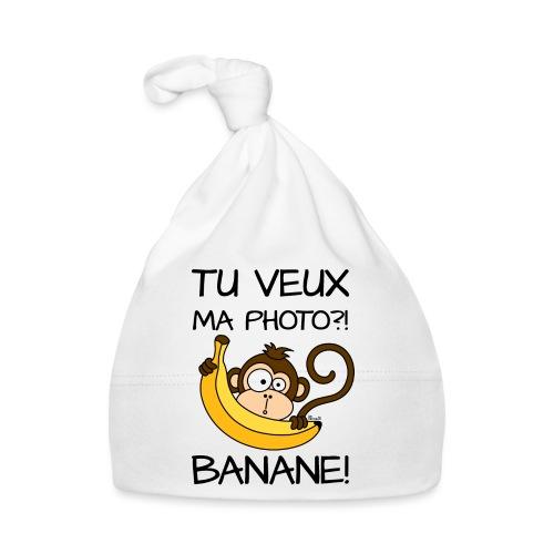 Singe, Tu Veux Ma Photo Banane !? - Bonnet Bébé