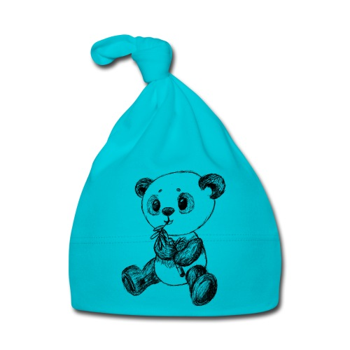 Panda bear black scribblesirii - Baby Cap