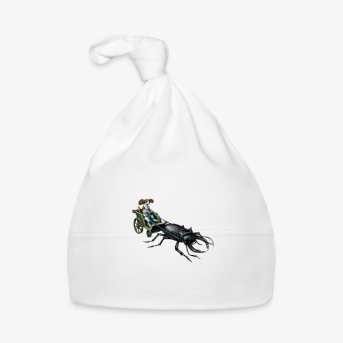 King Charles Spaniel with Stag beetle steed - Baby Cap