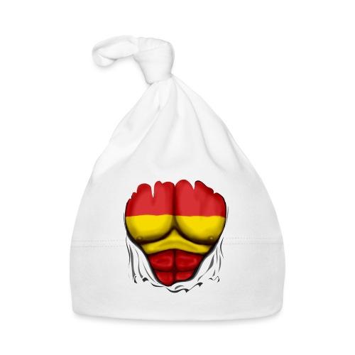 España Flag Ripped Muscles six pack chest t-shirt - Baby Cap