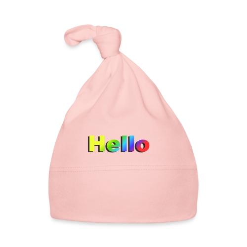 Hello - Czapeczka niemowlęca