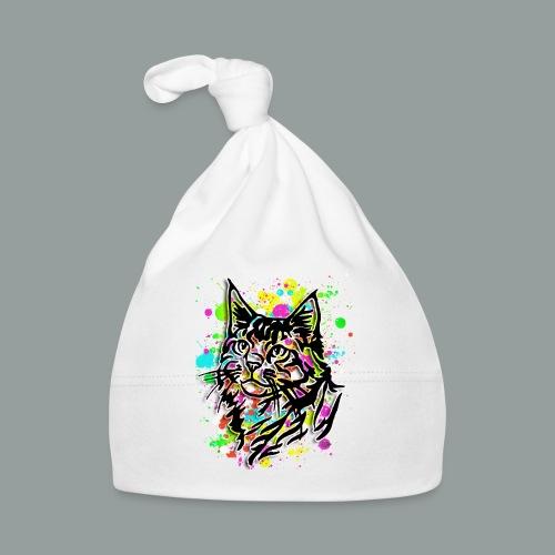 Bunte Katze - Baby Mütze