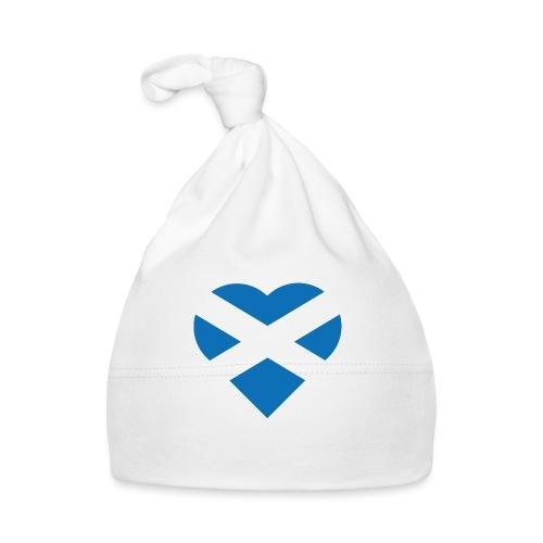 Flag of Scotland - The Saltire - heart shape - Baby Cap