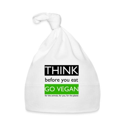 go vegan - Cappellino neonato