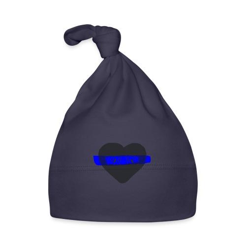 serduszko blu - Czapeczka niemowlęca