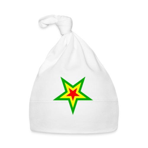 Stern rot, gelb, grün - Baby Mütze