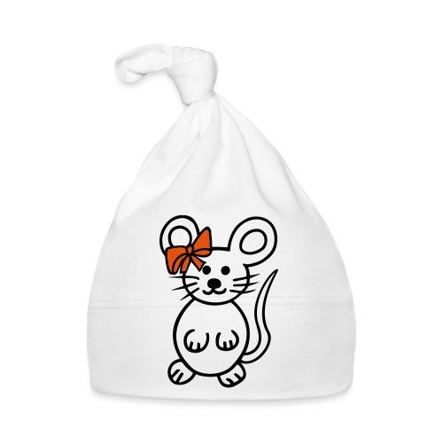 Maus mit Schleife - Baby Mütze