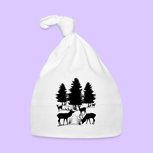 Tiere im Wald, Hirsch, Reh, Rehe, Bäume, Hirsche - Baby Mütze