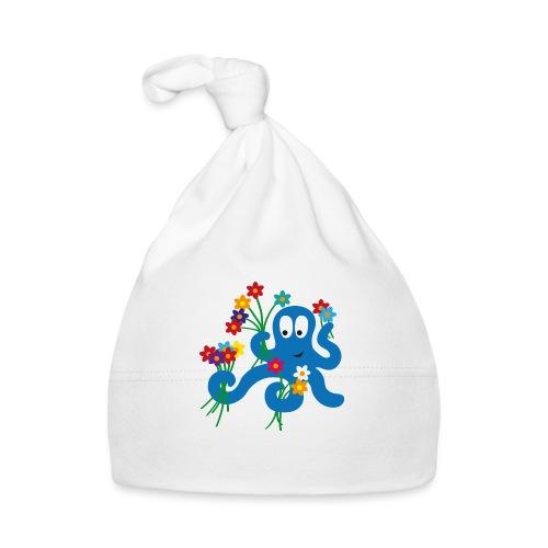 Krake mit Blumen - Oktopus - Baby Mütze