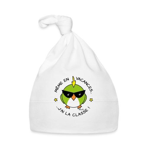 Oiseau Lunettes, Cadeau Instit, J'ai la Classe - Bonnet Bébé