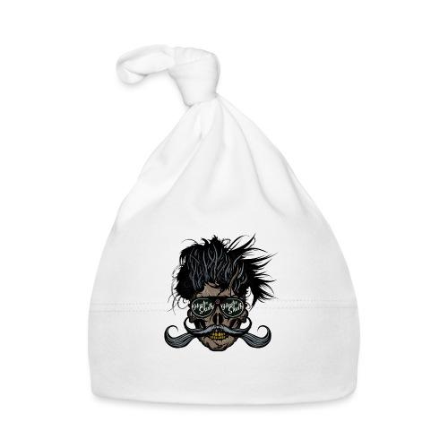 hipster skull tete de mort crane barbu moustache - Bonnet Bébé