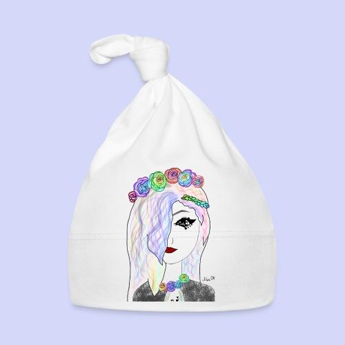 Rainbow flower girl - Female shirt - Babyhue