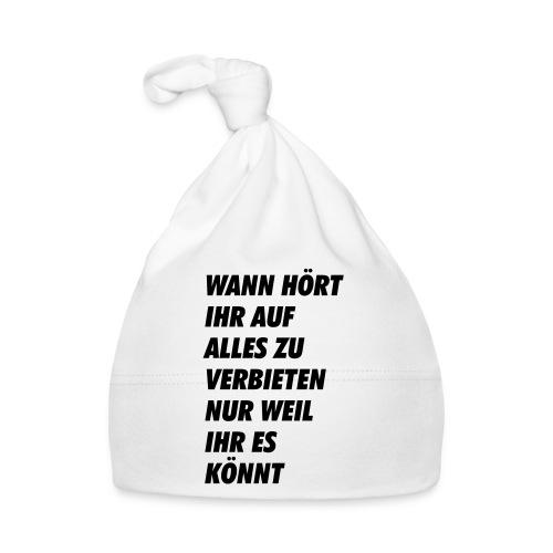 wanhoertihrauf - Baby Mütze