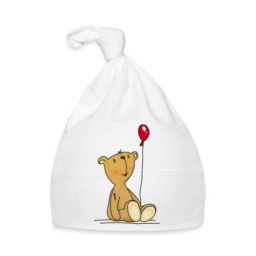 Teddybär mit rotem Luftballon Kuscheltier Kinder - Baby Cap